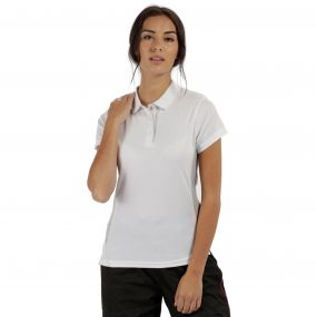 Women's Salt Lake Light and Dry Sports Polo Shirt White