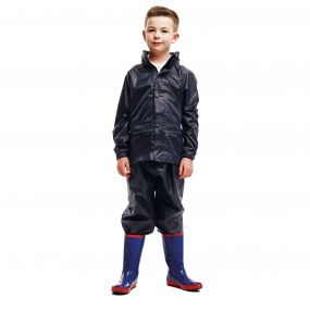 Kids 2 Piece Rain Suit Navy