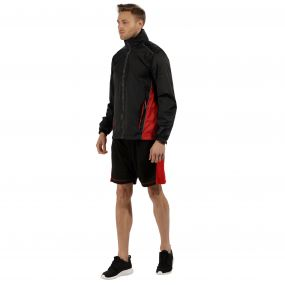 Men's Moscow Waterproof Shell Jacket Black Classic Red