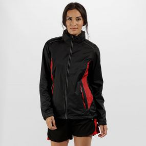 Women's Moscow Waterproof Shell Jacket Black Classic Red