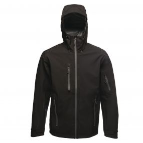 Triode 3 Layer Waterproof Shell Jacket Black Seal Grey