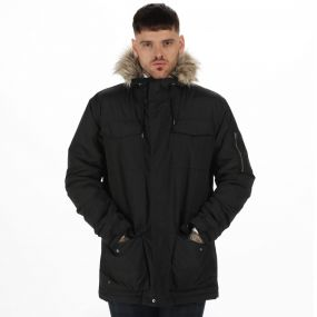 Originals Ardwick Waterproof Insulated Parka Jacket with Faux Fur Trim Hood Black