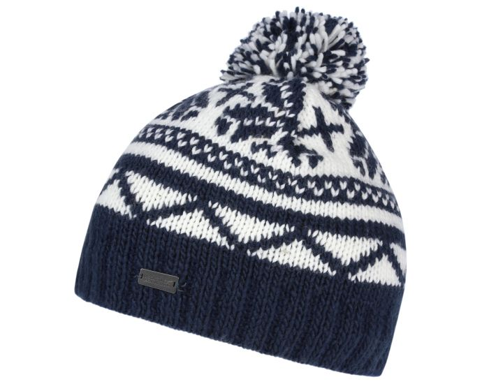 Sleet II Fair Isle Knit Bobble Hat Navy | Regatta - Great Outdoors