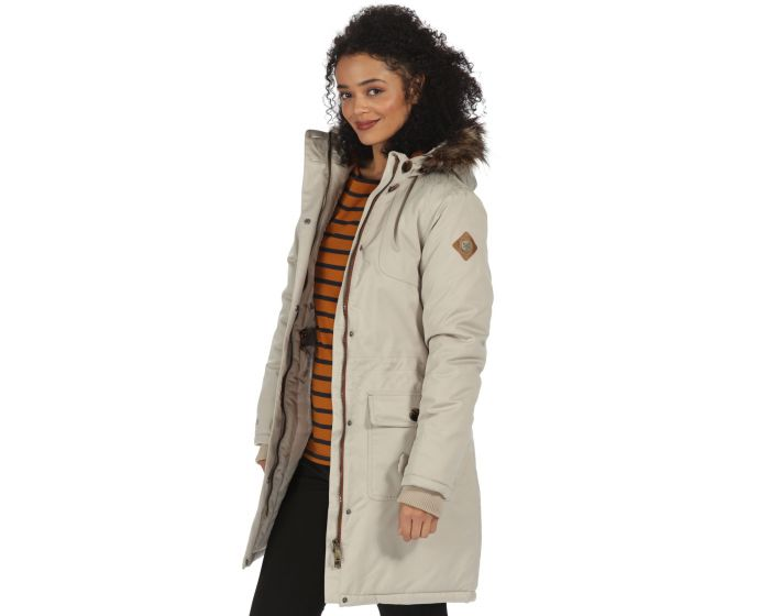 Saphie Breathable Waterproof Insulated Textured Parka Jacket Warm ...