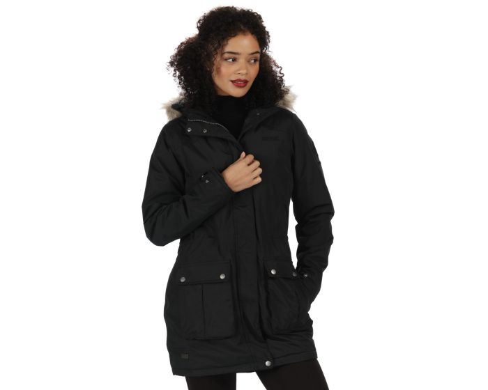 Schima II Breathable Waterproof Insulated Parka Jacket with Faux ...