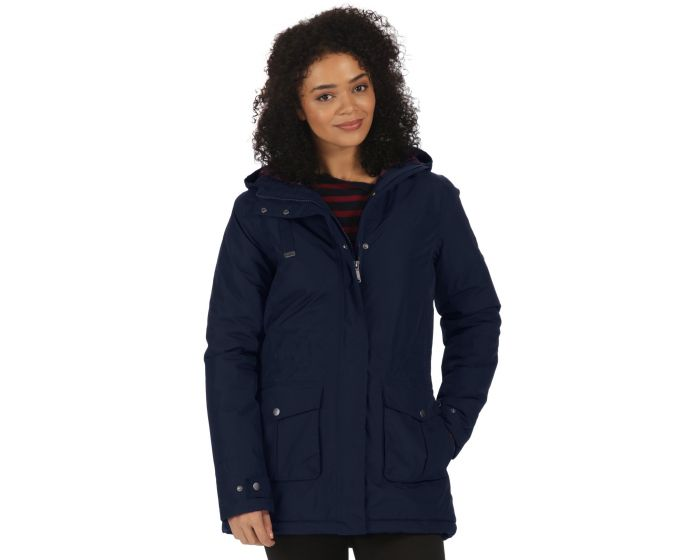 Beatriz Breathable Waterproof Insulated Jacket with Hood Navy ...
