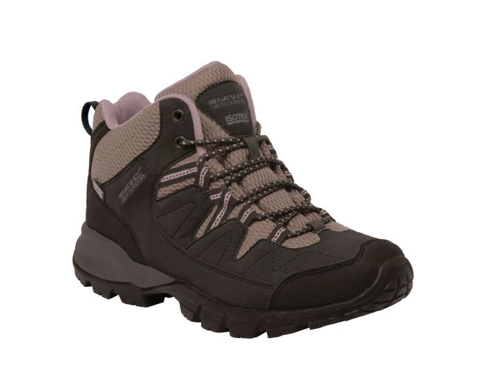 Regatta Black lady Holcombe walking boots Isotex waterproof footwear seam sealed with internal membrane bootee liner ghx 32998